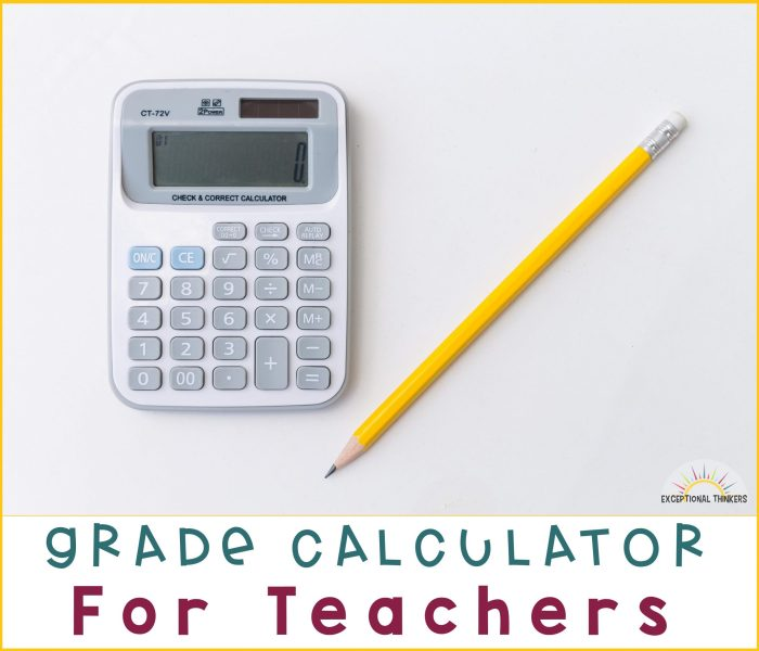 Grade Calculator for Teachers
