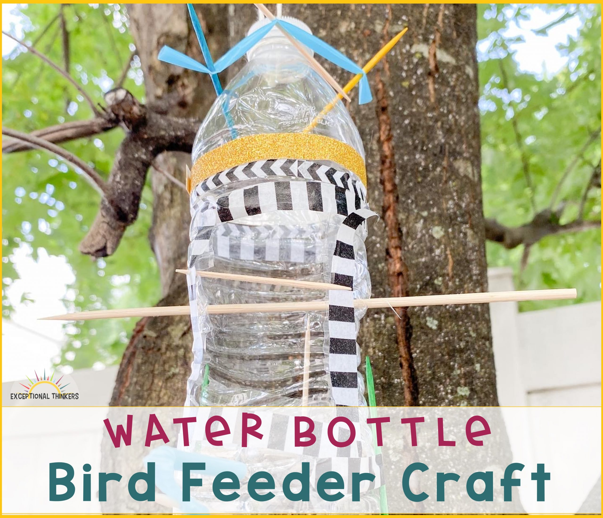 How to Make a Water Bottle Bird Feeder Craft