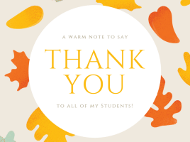 Student Appreciation