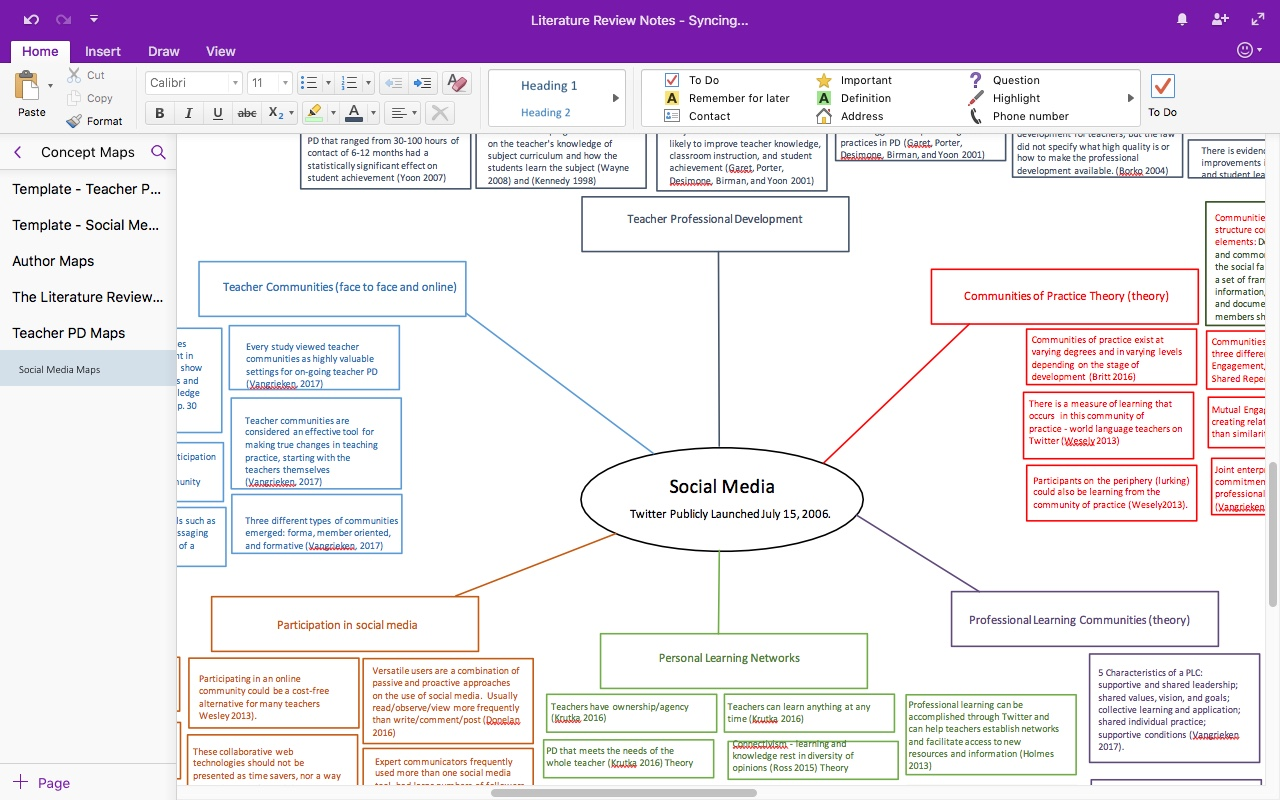 literature review onenote