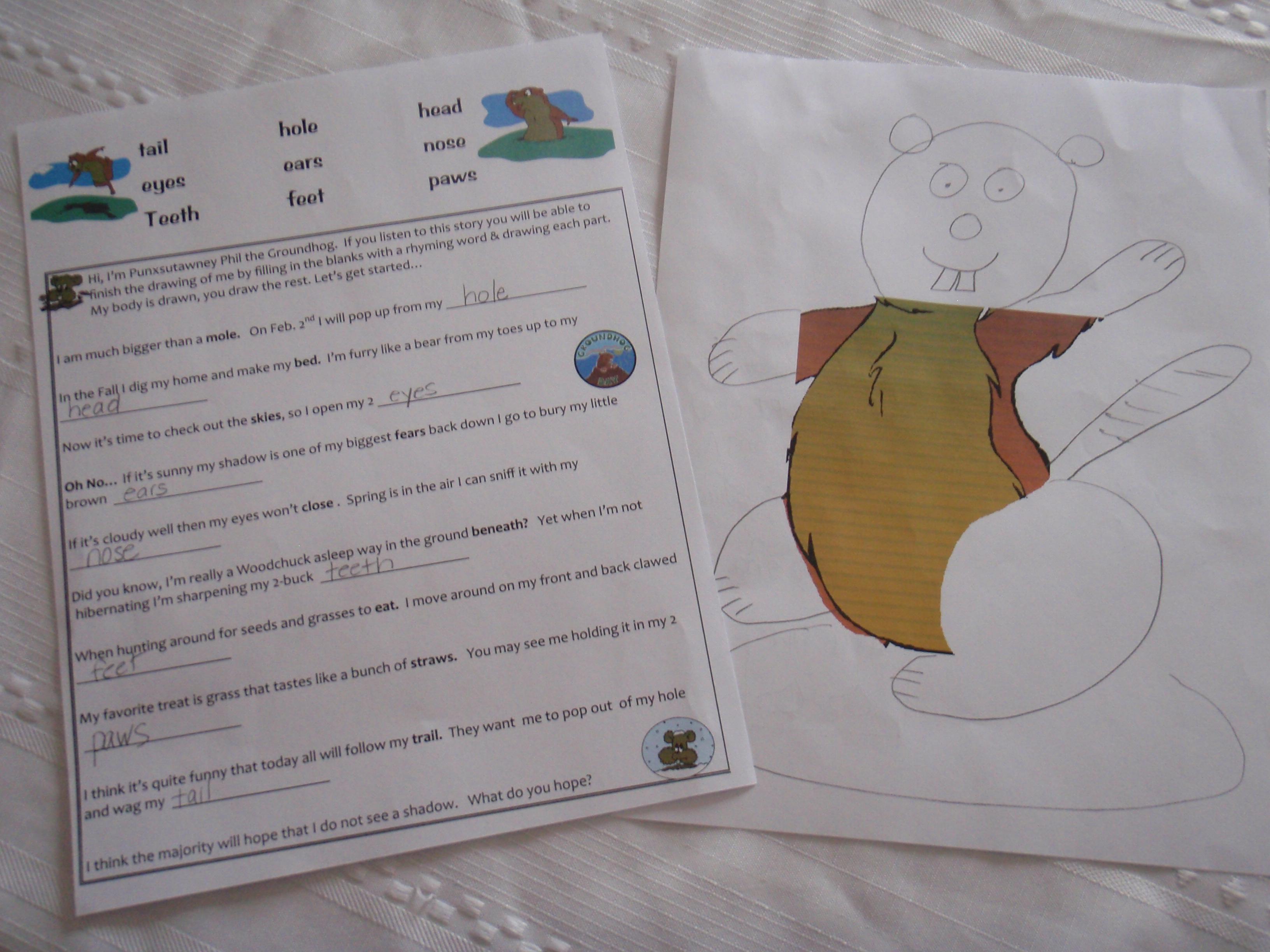Kindergarten Sentence Practice Worksheet Shadow