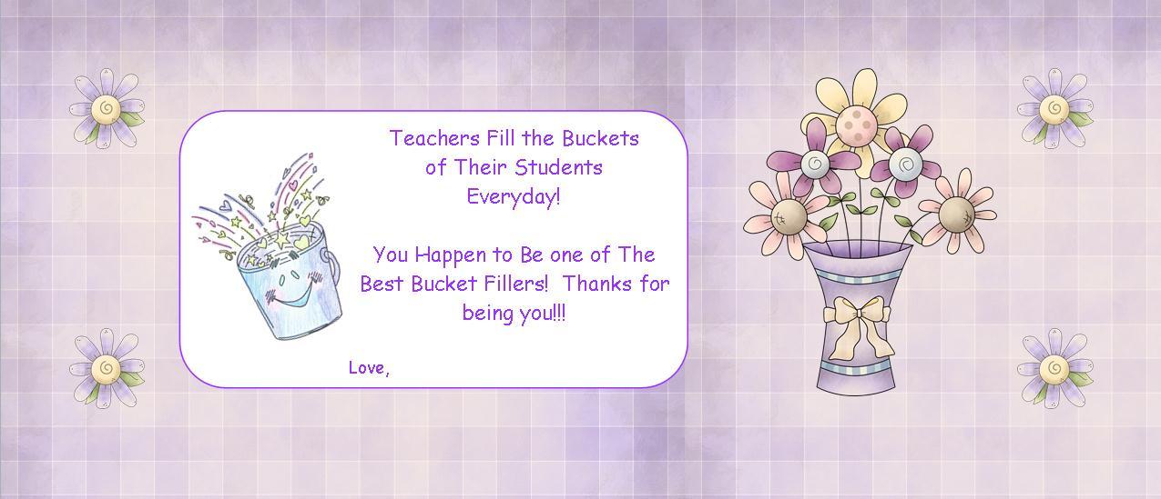Bucket Filler Teacheras