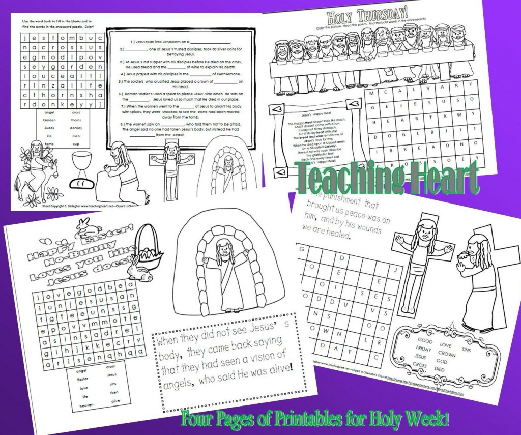 Free Holy Week Printables For Kids Teaching Heart Blog