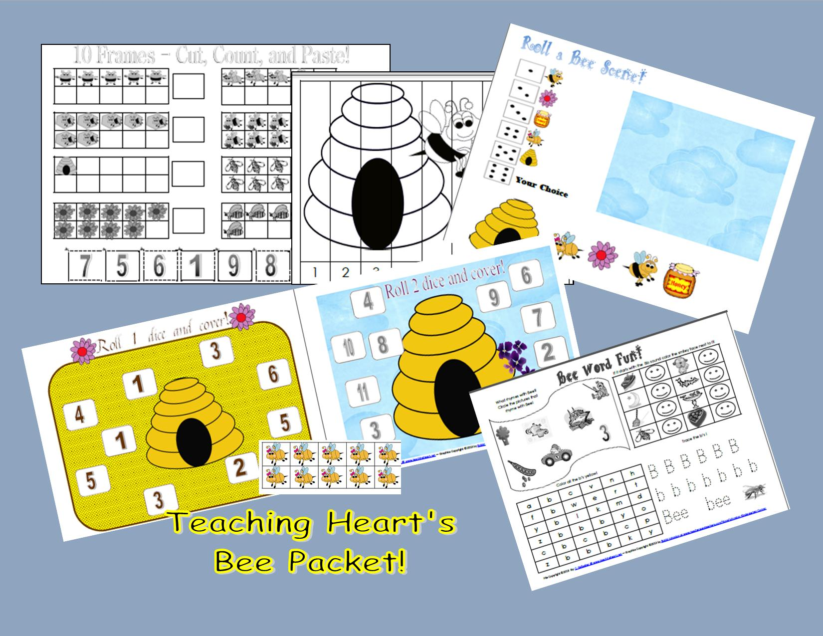 Free Bee Count By 5 S Puzzle And New Packet Teaching