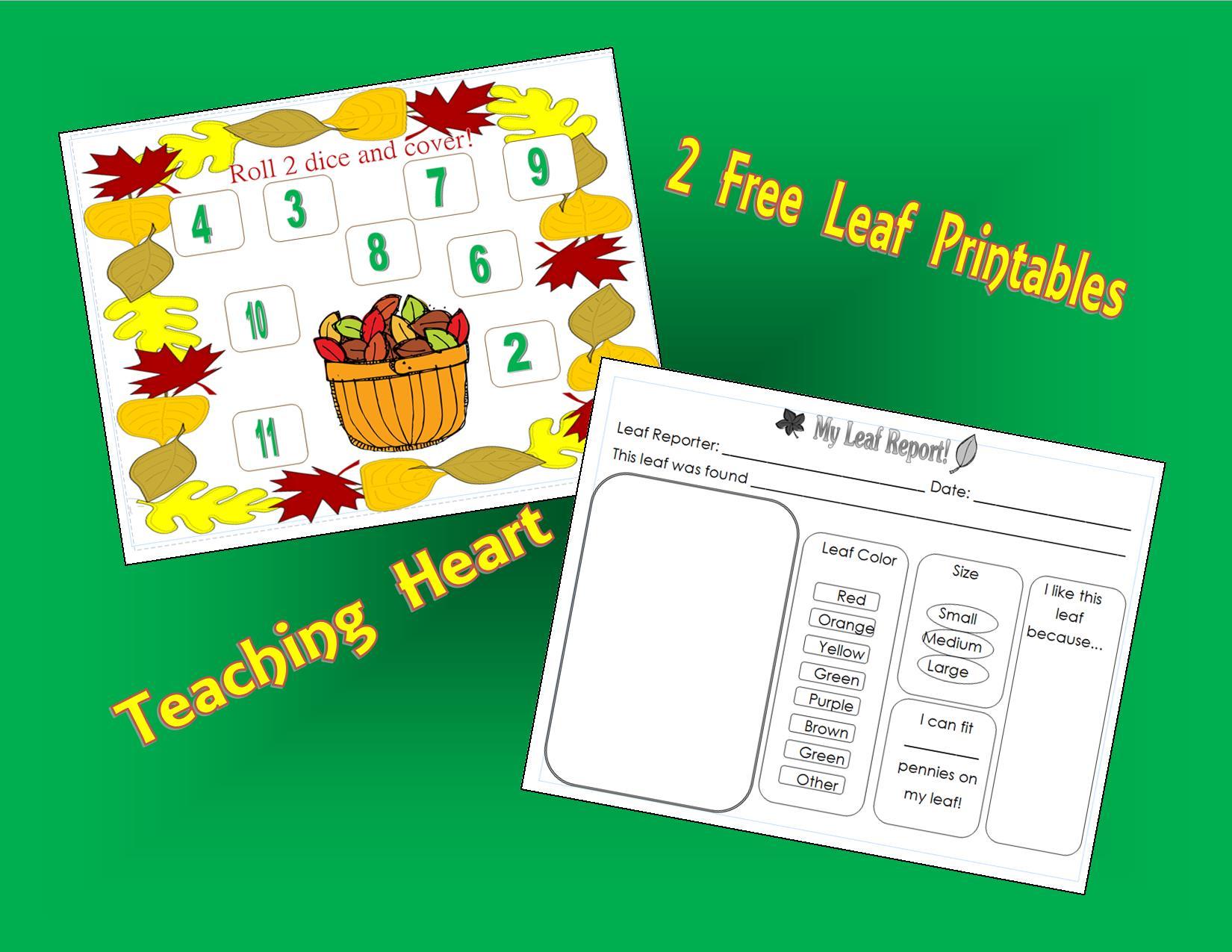 Free Leaf Printables Teaching Heart Blog