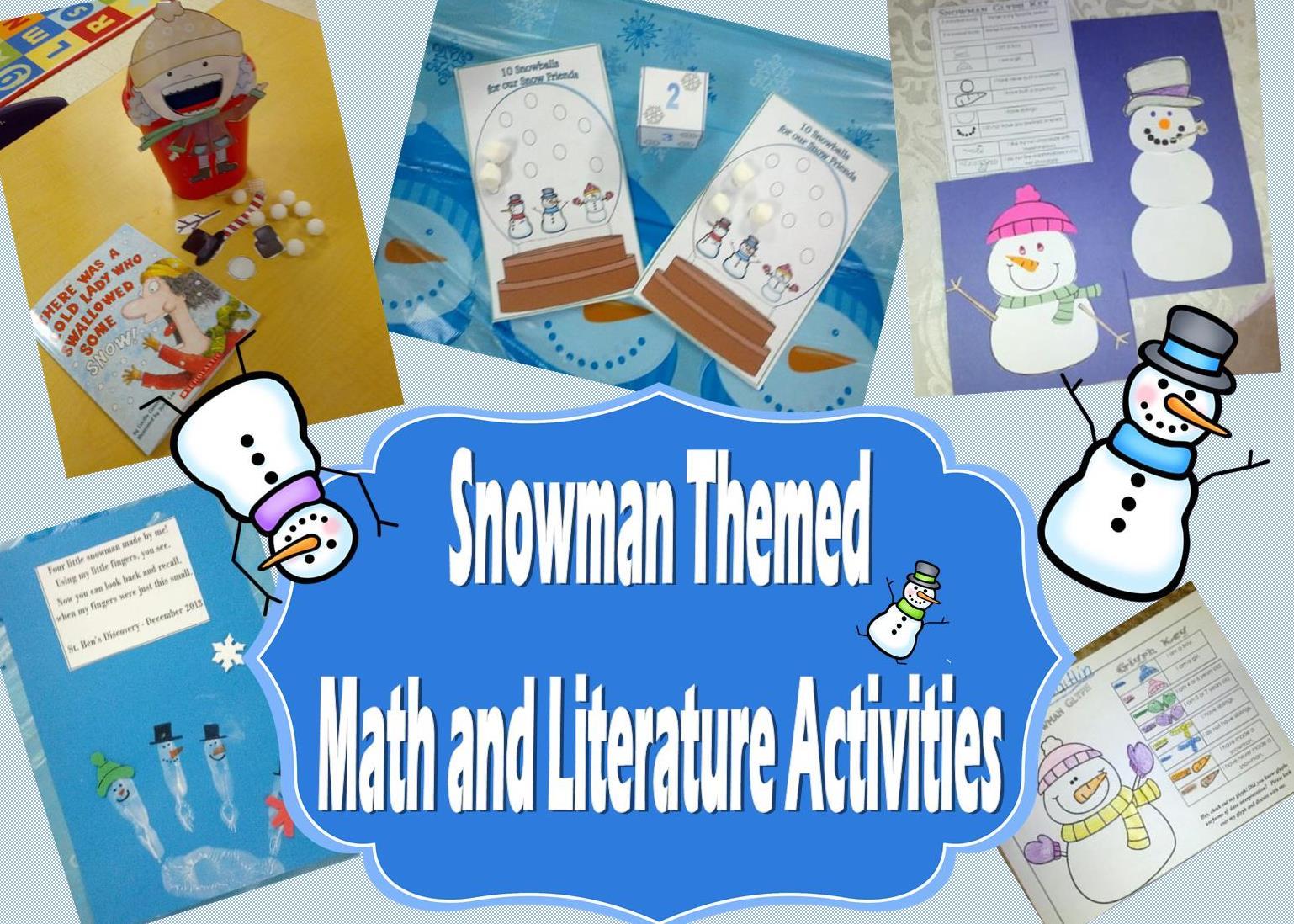 Roll A Snowman And New Snowman Packet Teaching Heart Blog