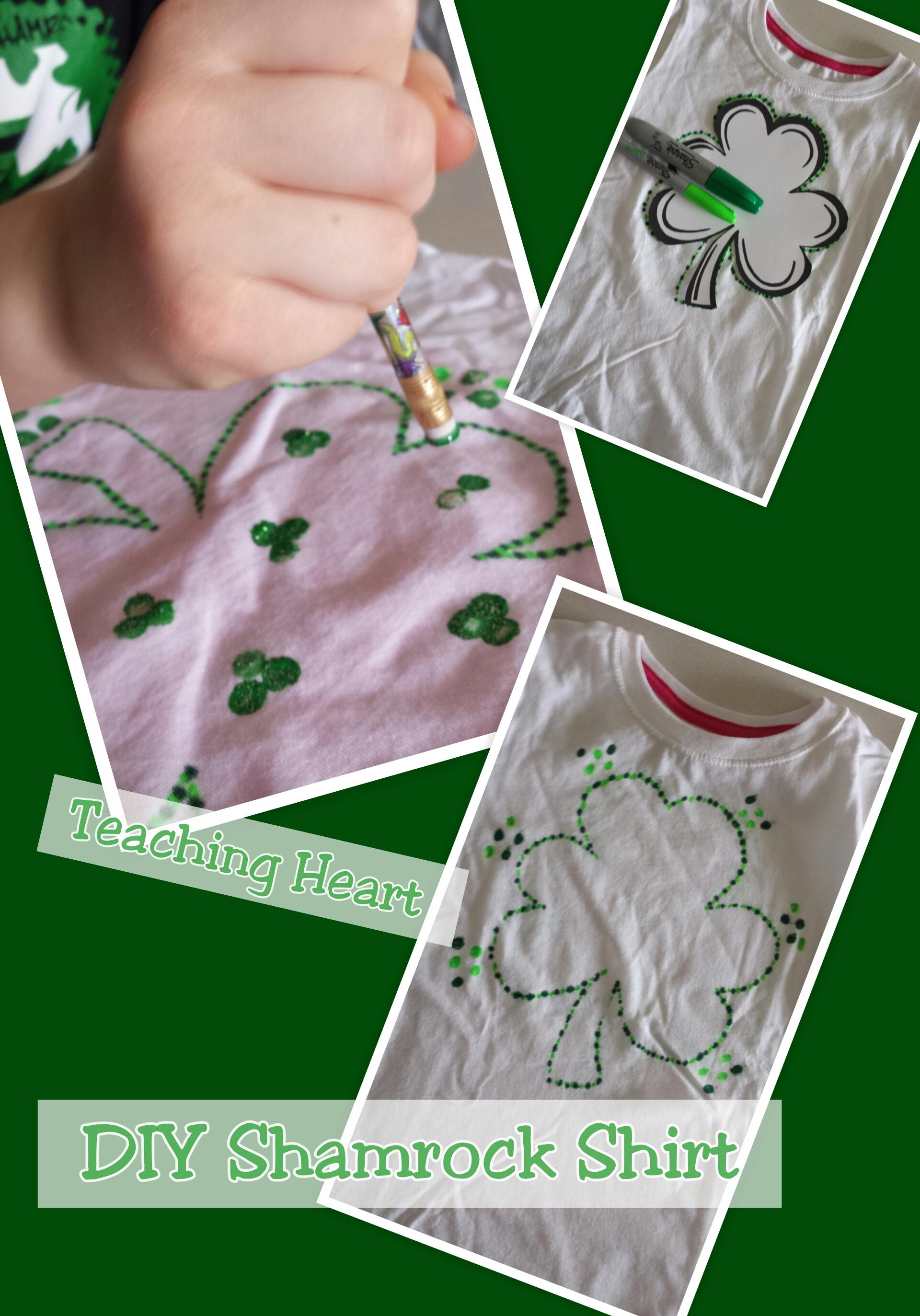 Quick Shamrock Diy Shirt Teaching Heart Blog