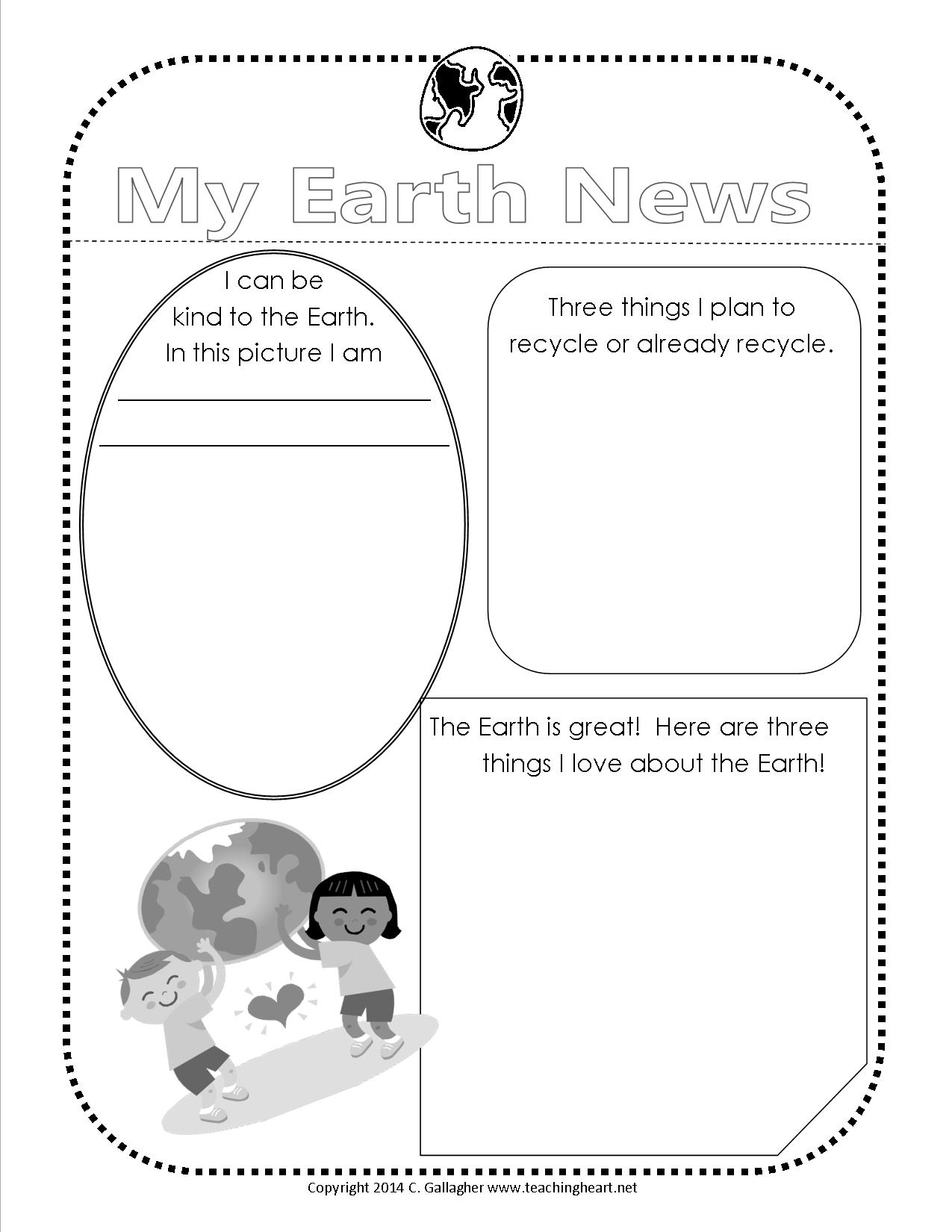 Earth Day Free Printable Teaching Heart Blog