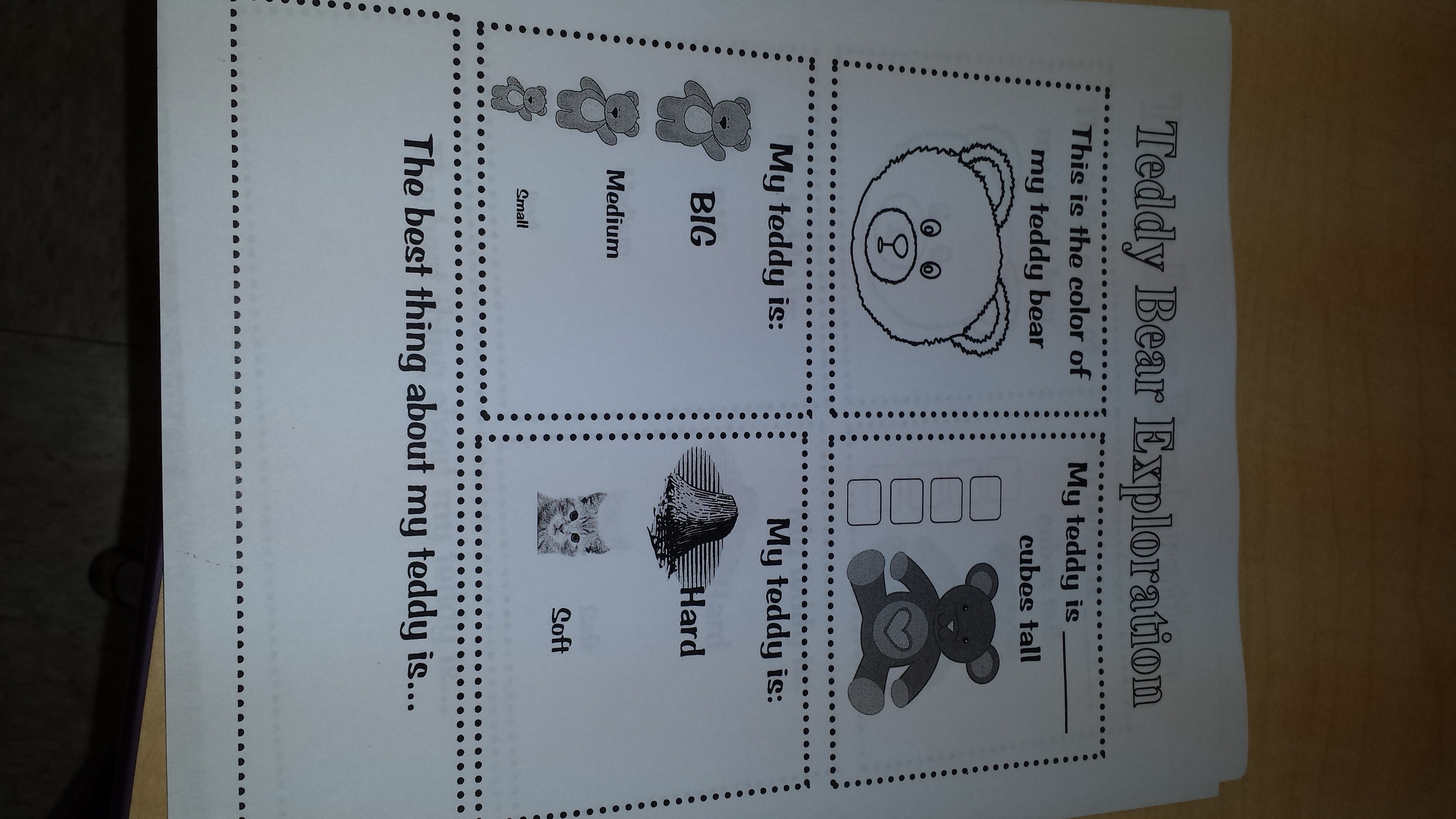 Teddy Bear Packet Teaching Heart Blog