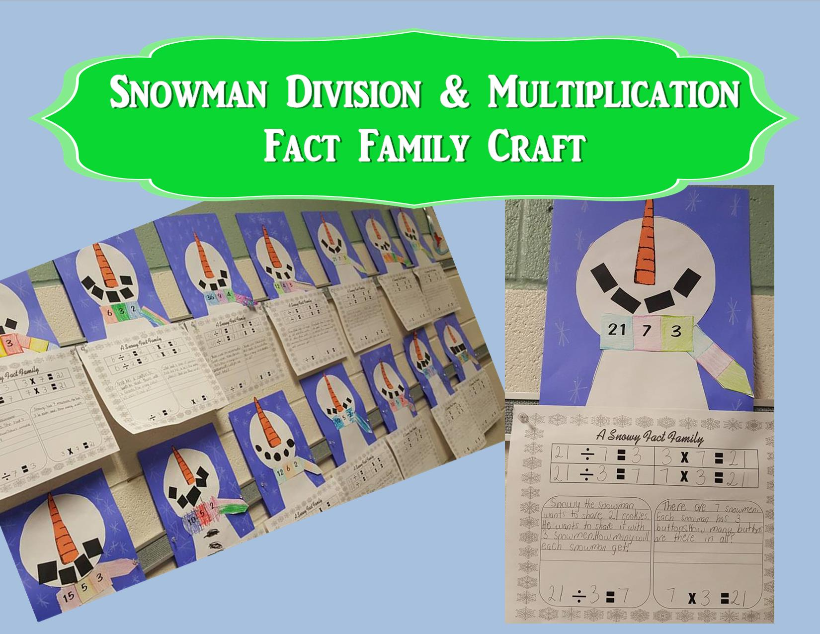 Snowman Division Craft Teaching Heart Blog