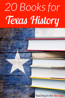 20 books to use while learning Texas history. These books are sure to engage students with facts and stories all about Texas!