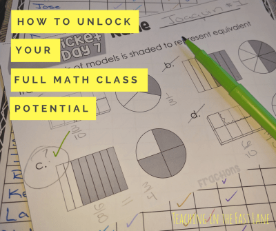 How to unlock your full math class potential and make every day in math powerful with 5 easy steps!