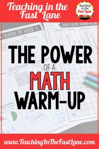 Spiral review through the use of a math warm up is a great way to keep learning fresh for students and preview new material. Their power is infinite!