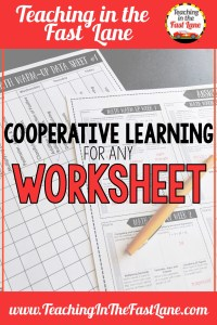 Cooperative learning strategies that will take any worksheet and turn it into an interactive activity your students will love! These activities are awesome for upping the engagement in your elementary classroom and are more than just group work!
