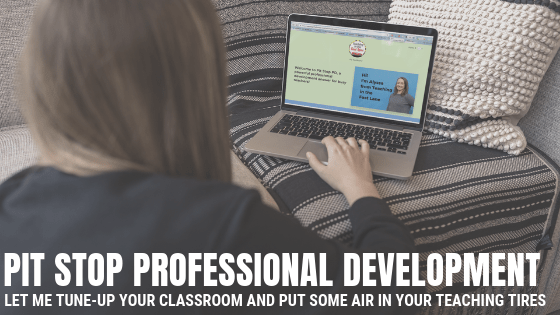 Are you looking for a quick and fun way to stay on top of your teaching game each month? Check out Pit Stop Professional Development, a club for busy teachers to continue learning from one another with timely tips and strategies throughout the year!