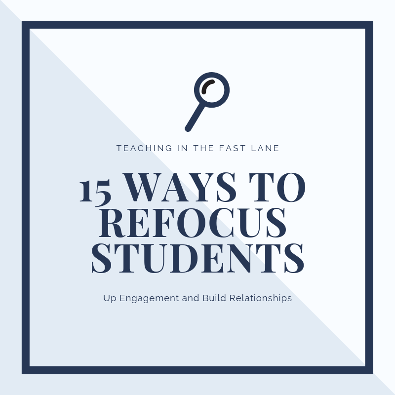 15 easy and responsive ways to refocus students in the elementary classroom when they are off task. These tips can be life savers!