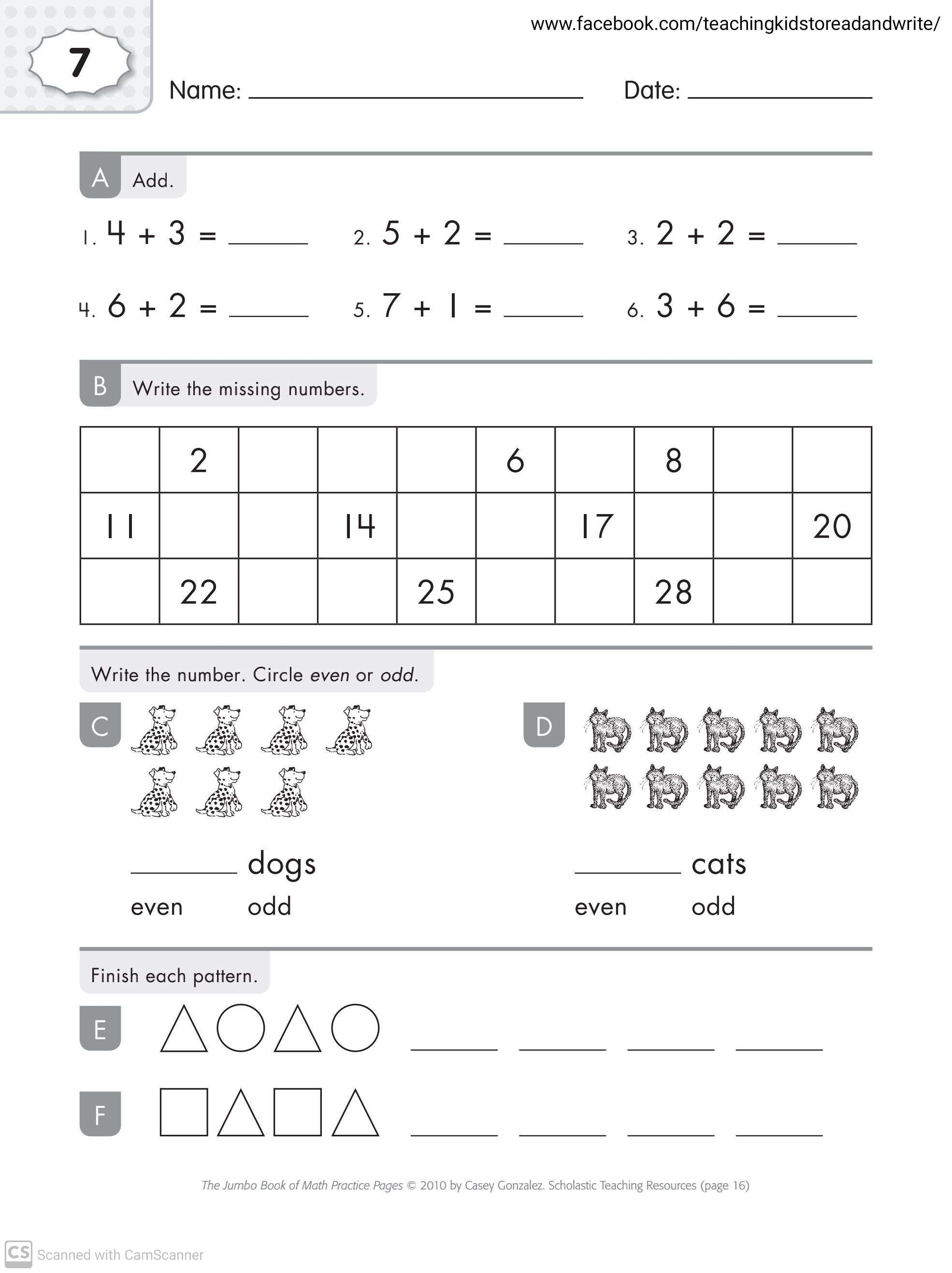Maths Worksheets For Grade 1 With Answers Teaching Kids