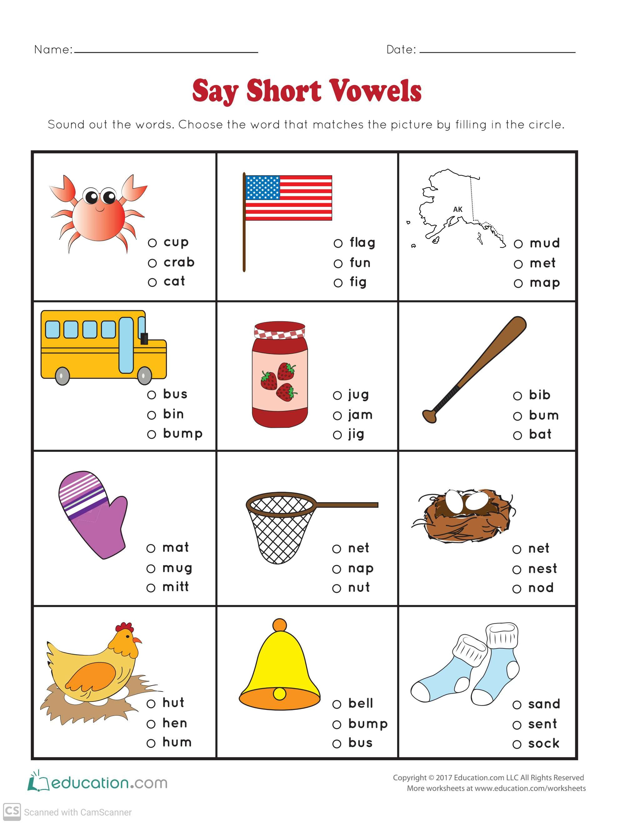 Worksheets For Kindergarten With Answers Teaching Kids