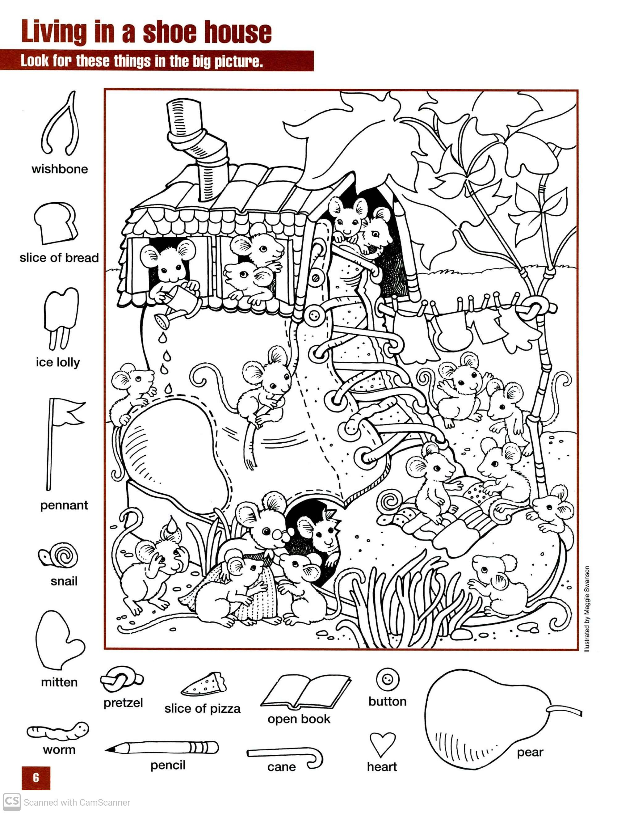 Hidden Things Worksheets For Kindergarten Can You Find
