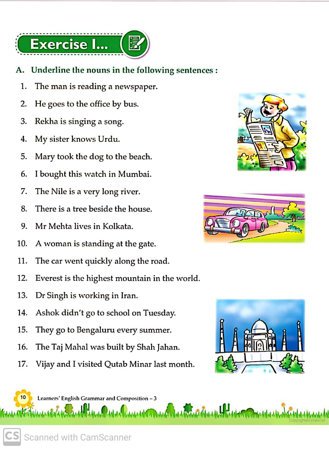 Grammar And Composition Worksheets For Grade 3 Teaching