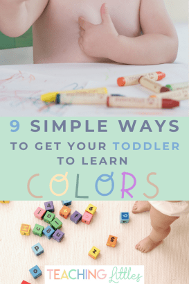 Toddlers can start learning their colors around 18 months of age. Here are simple, helpful tips to teach your child to learn their colors easily and quickly. Starting them early is the best way because the more exposure they get to hearing and seeing the colors, the better.