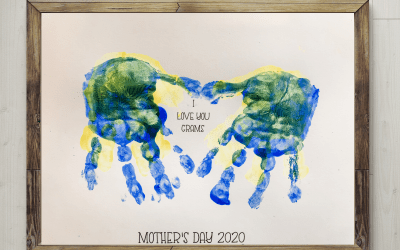 Handprint Mother's Day Gift for Mom and Grandma