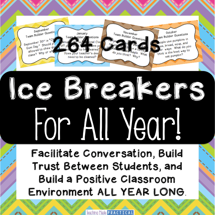 Ice Breakers for All Year: Build a Positive Classroom Community