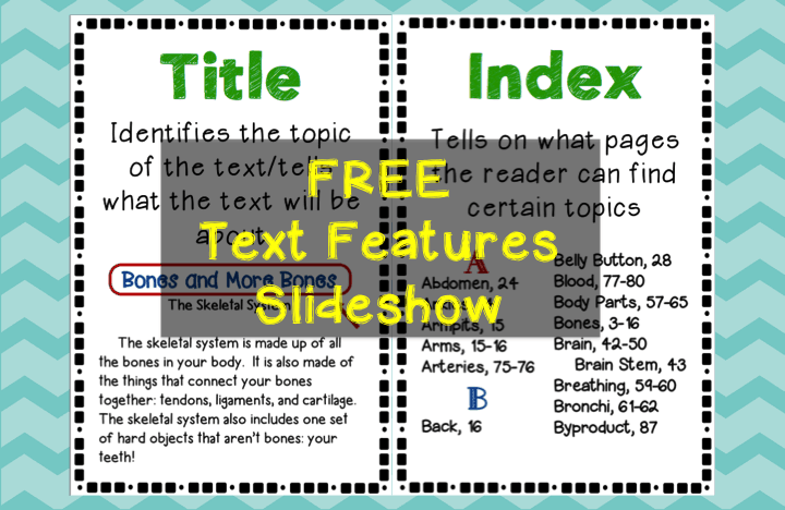 Free text feature slideshow - introduces 18 different text features