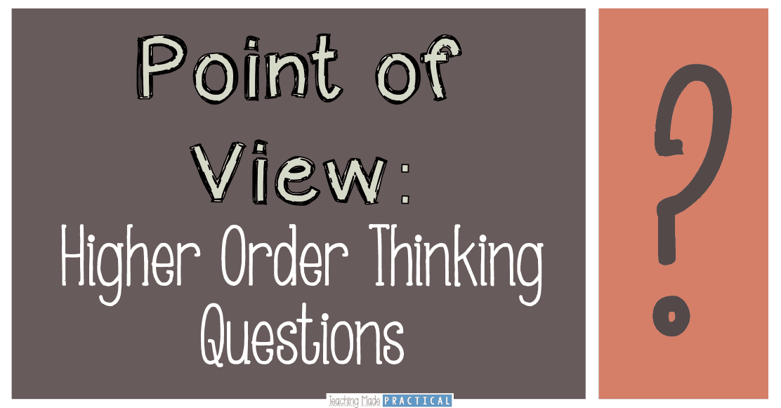36 Questions for Teaching Point of View: Bloom's Taxonomy.  Great for upper elementary classrooms.