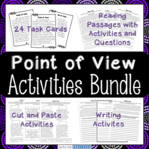 Hands on point of view activities to help make teaching point of view easy!