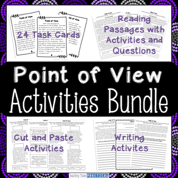 Hands on point of view activities to help make teaching point of view easy in 3rd grade or 4th grade students.