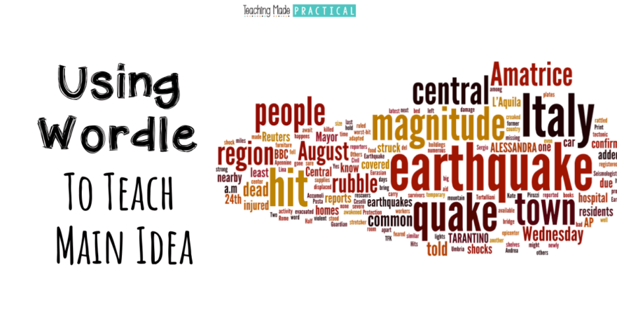 Use an online word cloud creator like Wordle to provide a visual aid to your main idea lessons.