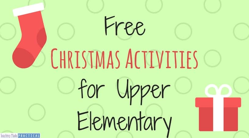 Free Christmas printables for 3rd grade, 4th grade, 5th grade