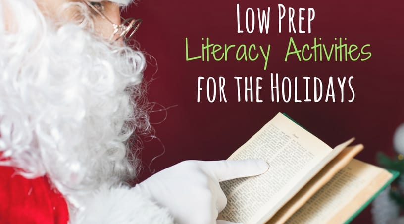 Low Prep Christmas literacy activities (ela) for 3rd grade, 4th grade, and 5th grade students