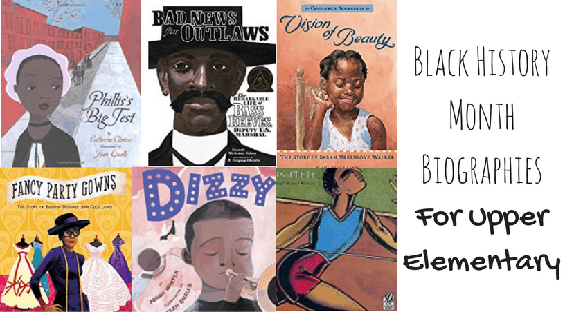 black history month biographies to teach upper elementary students about inspiring African Americans