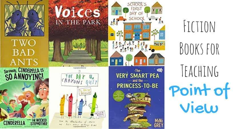 the best fiction books for teaching point of view to third grade, fourth grade, and fifth grade students