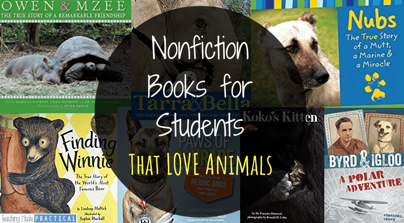 the best nonfiction books for students that love animals but don't like to read