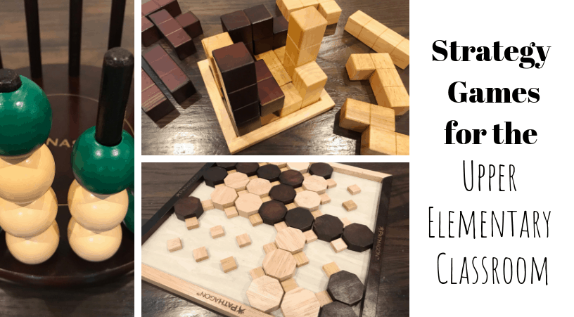strategy games and problem solving games for the upper elementary classroom (3rd grade, 4th grade, 5th grade)