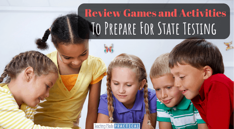 review games and activities for third, fourth, and fifth grade students (upper elementary) to make test prep more engaging
