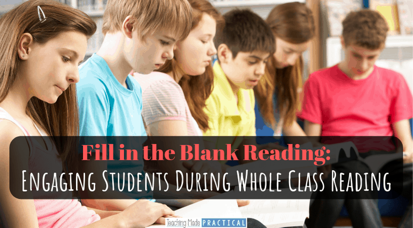 Ways to keep your whole 3rd grade, 4th grade, or 5th grade class engaged and accountable while doing whole class reading - without shaming students.