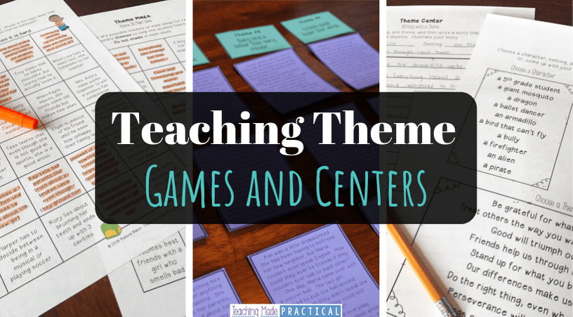 Activities / games / centers to help your 3rd, 4th, and 5th grade students practice determining the theme of a story