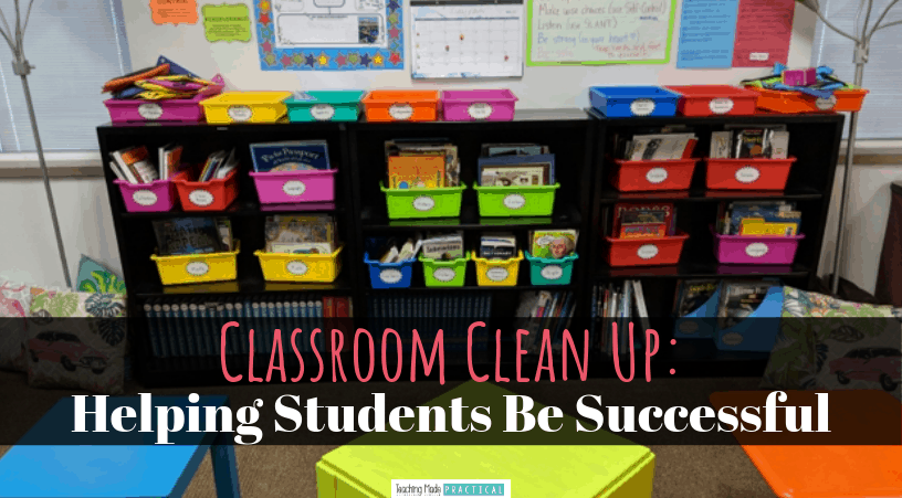 Tips for helping your 3rd, 4th, and 5th grade students clean up their own classroom successfully and quickly! A great way to make dismissal go much more smoothly and have a clean classroom to come to in the morning!
