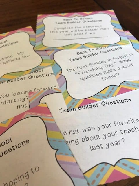 Ice breaker / team building questions to help build a positive classroom environment all year long (3rd, 4th, and 5th grade)