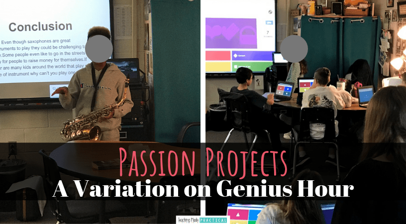 Passion projects - a variation on genius hour for upper elementary students
