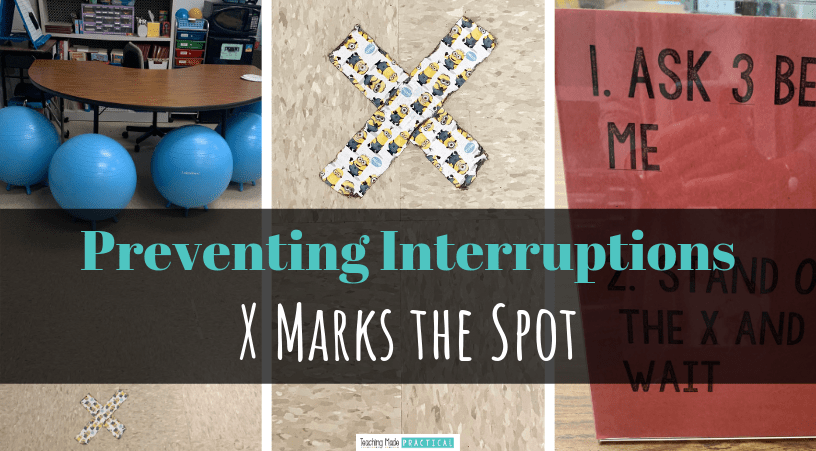 Prevent interruptions in your upper elementary classroom with a very simple classroom management fix