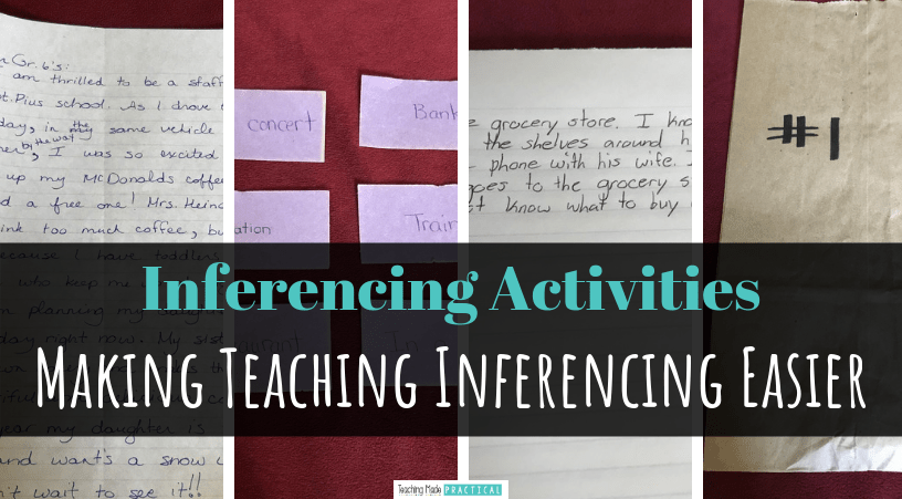 Easy, free activities and ideas to help make teaching inferencing and making inferences lesson plans even easier for upper elementary