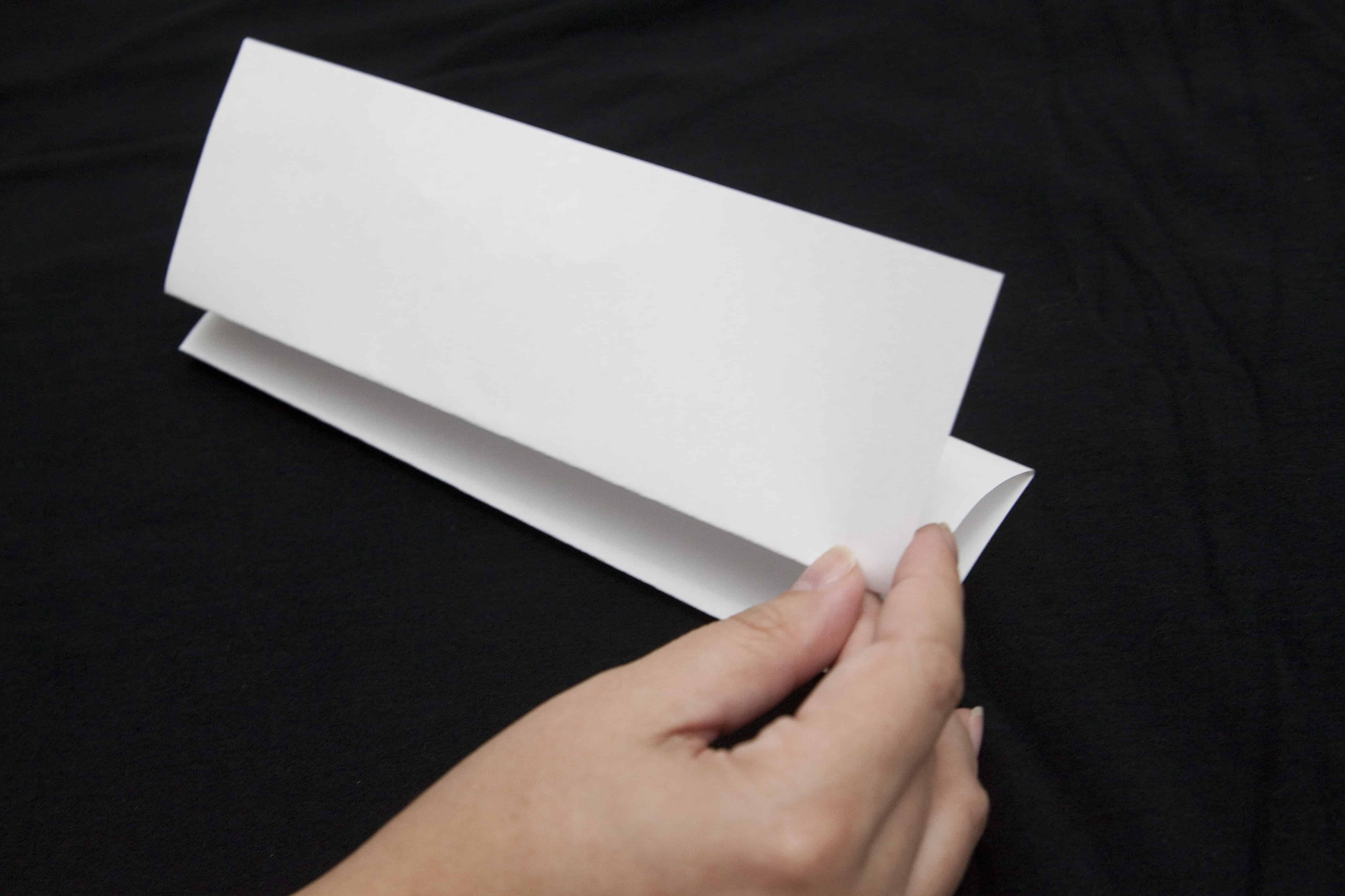 To prepare for the preposterous people  team building activity, have students fold a paper accordion style.