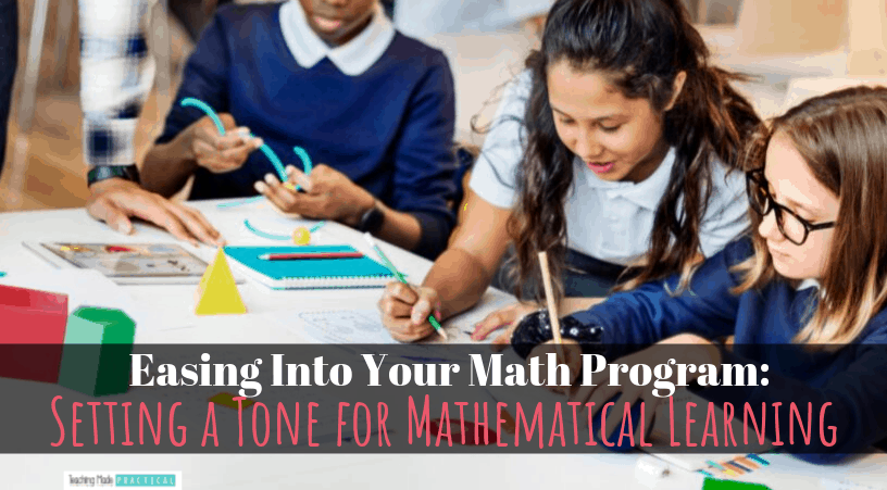 Set the tone for your math instruction by providing a safe environment for students to explore math ideas in 3rd, 4th, and 5th grade.