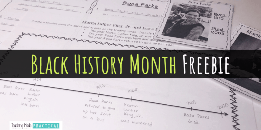 This black history month freebie will help your third, fourth, and fifth grade students learn more about Rosa Parks and Martin Luther King, Jr.
