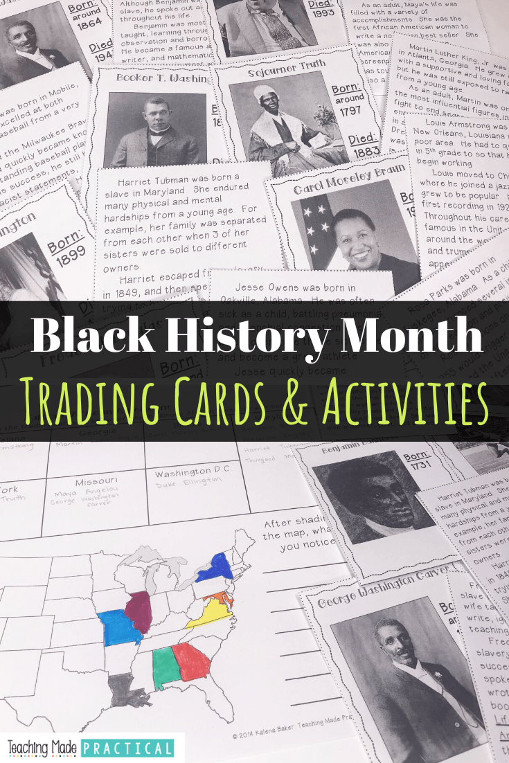 A no prep black history month reading comprehension activity for third, fourth, and fifth grade studetns